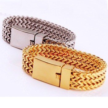 2016 Newest! Fashion Silver/Gold color Figaro Link Chain Bracelets Father's Day Gift 316L Stainless Steel Jewelry, Top Quality