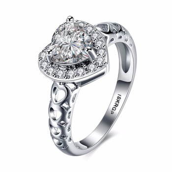 Engament Rings Zircon Rhinestone Hearts Rings Wedding Rings Jewelry Women Accessories Fashion Jewelry Luxury Proposal ring